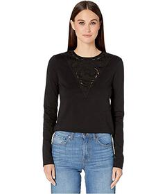 See by Chloe Applique Detail Long Sleeve Tee