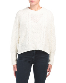 MOON & MADISON Juniors Cable Dolman Sleeve Sweater