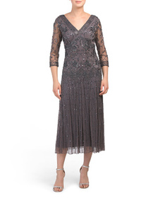 J KARA Hand Beaded Gown