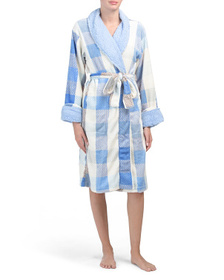 ECHO Plaid Shawl Collar Plush Robe