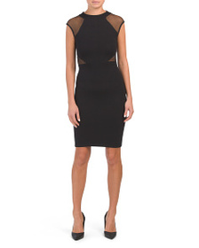 FRENCH CONNECTION Viven Mesh Panel Jersey Dress