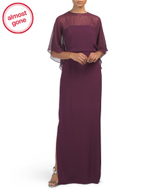 MIKAEL AGHAL Silk Crepe Gown