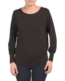 CITYVIEW Puff Sleeve Pullover Top