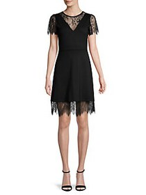 French Connection Madalyn Scalloped Lace A-Line Dr