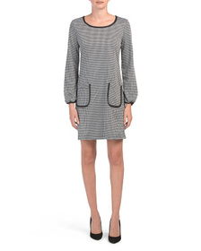 MAX STUDIO Double Knit Houndstooth Dress