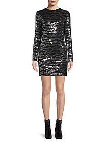 French Connection Ebba Tiger Sequin Mini Dress SIL