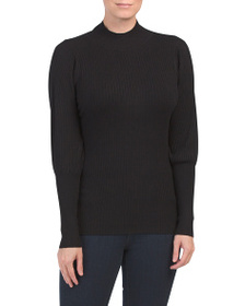 VILA MILANO Long Sleeve Sweater With Ribbing