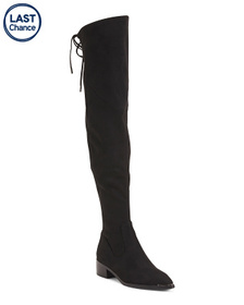 MARC FISHER LTD High Shaft Low Heel Boots