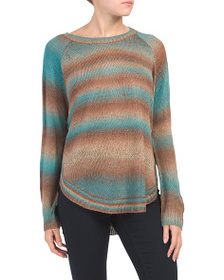 TELLURIDE Ombre Heathered Round Hem Sweater