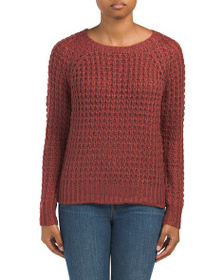 PINK ROSE Juniors Textured Pullover Sweater