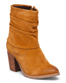 REBELS Ruched Suede Boots