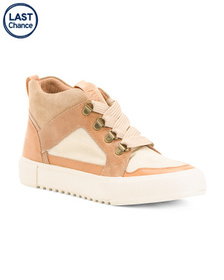 FRYE Leather And Suede Sneakers