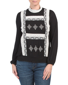 RXB Embroidered Lace Top
