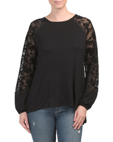RXB Lace Sleeve Top