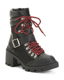 LUST FOR LIFE Lace Up Combat Boots