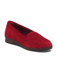 EASY SPIRIT Suede Quilted Comfort Flats