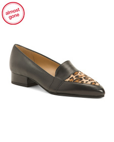 AVELLINI Made In Italy Leather Haircalf Band Flats