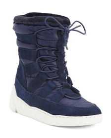 JSLIDES Nylon Suede High Top Sneakers