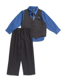 US POLO ASSOCIATION Toddler Boys 4pc Dress Up Set