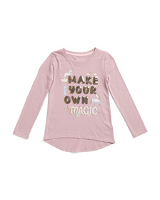 CYNTHIA ROWLEY Girls Make Your Own Magic Top