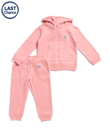Reveal Designer Toddler Girls 2pc Fleece Sweatsuit