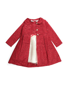 BLUEBERRY BOULEVARD Little Girls Brocade Coat With