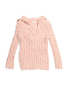 POOF Big Girls Cozy Hooded Sweater