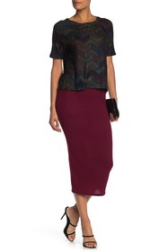 Go Couture Basic Knit Maxi Skirt