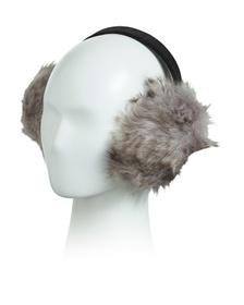 SURELL Faux Fox Fur Earmuffs On Velvet Band