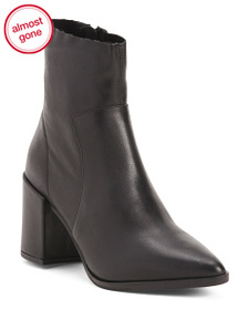 FABIANELLI Made In Italy Leather Pointy Toe Bootie