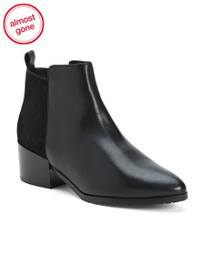 FABIANELLI Made In Italy Suede And Leather Booties