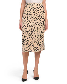 JAPNA Juniors Animal Print Skirt