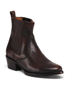 FRYE Leather Pull On Chelsea Boots
