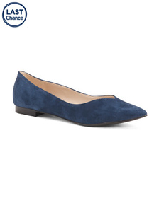 MARC FISHER Suede Ballet Flats