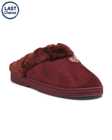 MUK LUKS Clogs With Faux Fur Lining