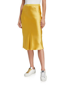 HASHTTAG intrend Satin Midi Skirt