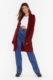Nasty Gal Rust Knit's Not Been Longline Cardigan