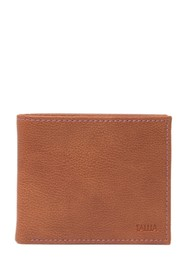 Tallia Bifold Leather Wallet with Embossed Interio