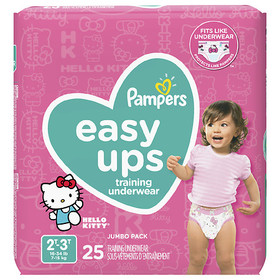 Pampers Easy Ups Training Underwear Girls 2T-3T