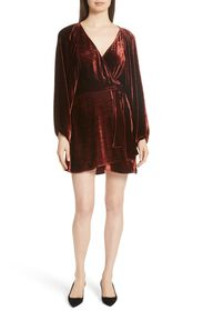 A.L.C. Carlo Velvet Wrap Dress (Regular & Plus Siz