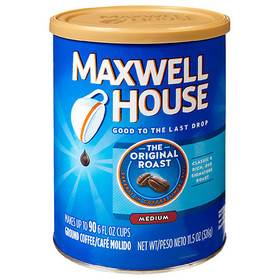 Maxwell House Original Roast Ground Coffee, Caffei