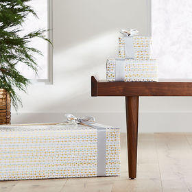 Crate Barrel Gold and Silver Streamer Gift Wrap