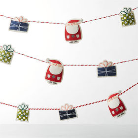 Crate Barrel Whimsy Holiday Felt Garland