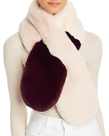 Echo - Faux-Fur Two-Tone Pull-Through Scarf