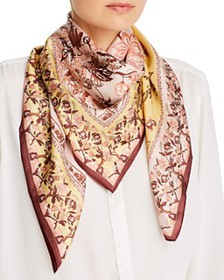 Echo - Floral Tree Silk Square Scarf