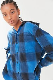 Urban Renewal Recycled Hooded Flannel Button-Down