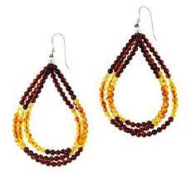 Jay King Amber and Butterscotch Amber Drop Earring