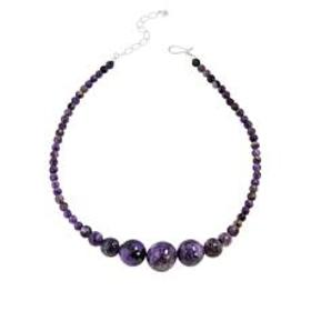 Jay King Sterling Silver Purple Charoite Bead Neck