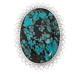 Jay King Sterling Silver Hubei Turquoise Oval Pend