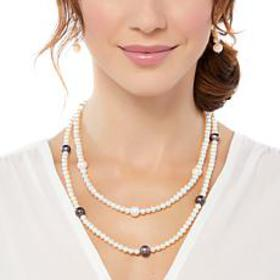 Imperial Pearls Peacock & White Cultured Pearl Sta